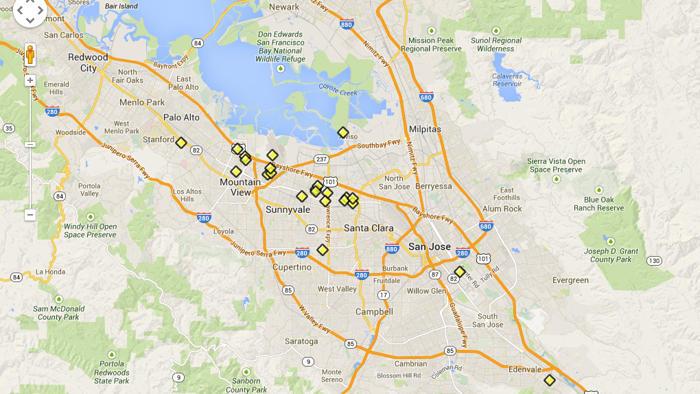 Congress Investigating Silicon Valley Tech Toxin Sites From - Us map silicon valley