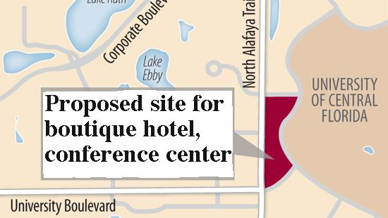 The University of Central Florida is considering building a boutique hotel and conference center on campus.