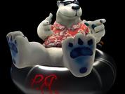 P.B. is the polar bear star of WildTangent's newest mobile game, Polar Bowler, which will be released on April 2.