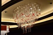 The chandelier in the High Limits area, where bets can go as high as $50,000 per hand in Blackjack.