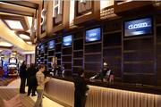 The casino's cashier, also known as the cage, where patrons cash in their chips from table games.