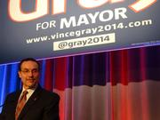 Mayor Vincent Gray conceded that he lost the Democratic nomination for a second term at midnight on April 2.