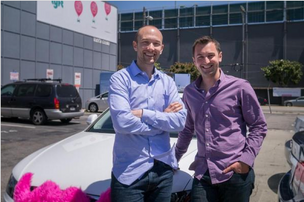 Lyft co-founders Logan Green and John Zimmer.