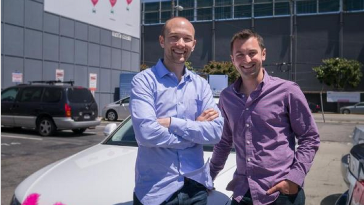 """Two new resolutions from the office of Councilman Chris Riley are set to put ridesharing back on City Council's agenda in the coming weeks, this time under the new moniker """"transportation networking companies."""" Above, Lyft co-founders Logan Green and John Zimmer."""