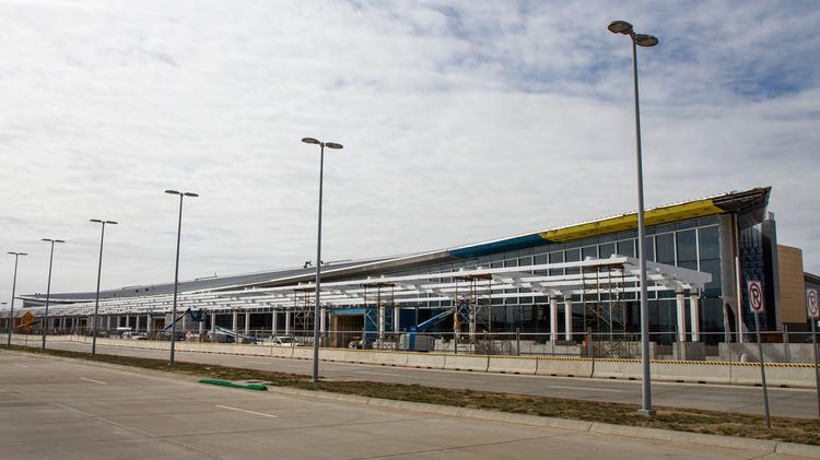 Wichita Mid-Continent Airport  (soon to be Wichita Dwight D. Eisenhower National Airport)  What: New terminal. Cost: $104.6 million (current construction cost). Projected opening: March 31, 2015.