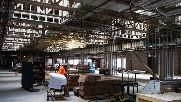 Much of the construction work at Wichita Mid-Continent Airport is centered on the new terminal building itself. But the airport is also installing a water quality treatment system near the airfield to serve the terminal.