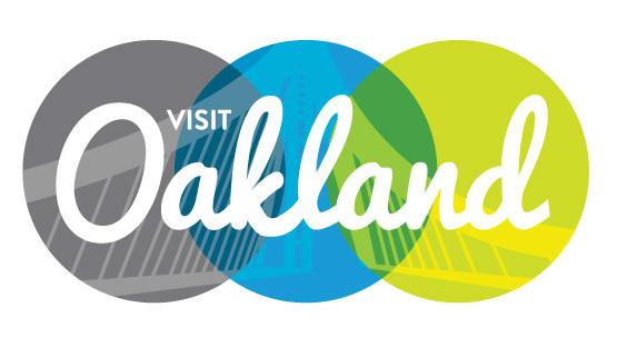 Visit Oakland's rebranding effort includes a new logo, displaying a span of the new Bay Bridge.