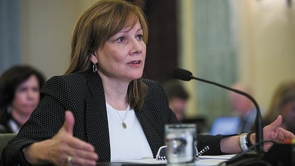General Motors CEO Mary Barra testifies before a Senate Commerce, Science and Transportation Subcommittee, addressing the GM ignition switch recall Wednesday, April 2, 2014 in Washington, DC. (Photo by Mark Finkenstaedt for General Motors)