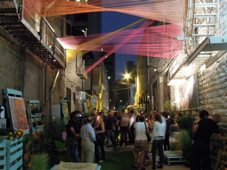 """An alley in downtown Austin was transformed into an art and public venue entitled, """"20 Ft. Wide."""""""