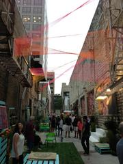 A demonstration art project has been created in a downtown Austin alley to promote conversations about new uses for traditionally ugly spaces.