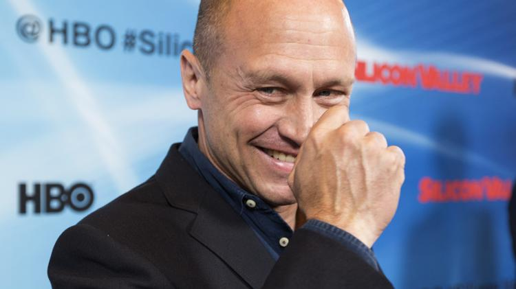 """Mike Judge, creator of """"Office Space"""" and """"Beavis and Butt-head,"""" at the opening of his new HBO show """"Silicon Valley."""""""