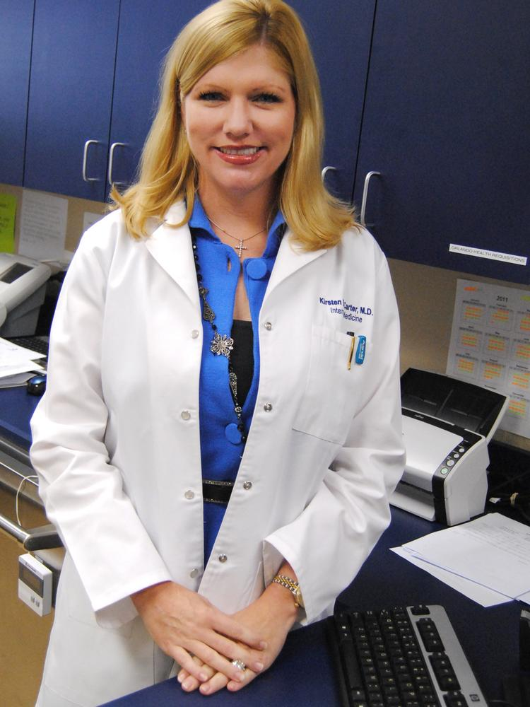 Grace Medical Home in Orlando was one of five Florida health organizations to get a grant from CVS Caremark Charitable Trust. Shown: Grace Medical Home's Dr. Kirsten B. Carter