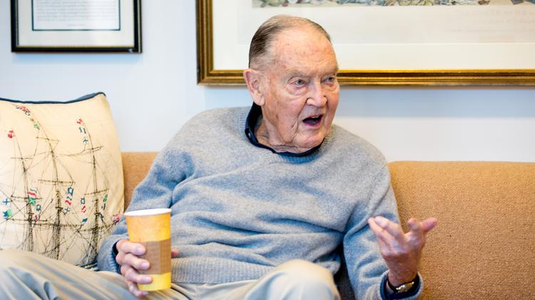 """Vanguard Group founder John C. """"Jack"""" Bogle in conversation with Jeff Blumenthal of the Philadelphia Business Journal on March 27, 2014."""