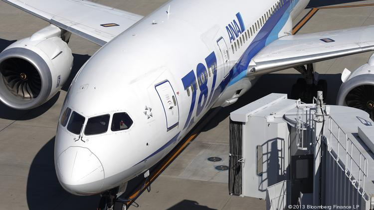 LMI Aerospace provides wing slats, fuselage and wing skin, electronic rack assembly and other components for Boeing's 787 Dreamliner aircraft. Shown is a 787 operated by All Nippon Airways Co.