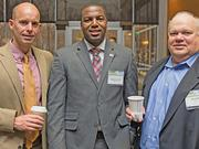 Randy Cypher, executive representative, Transworld Systems; Marques Dent, executive account manager, CAEI; Joe Paska, CEO, Pent LLC.