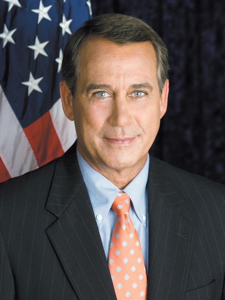 U.S. House Speaker John Boehner, a Republican, represents Ohio's 8th District, which includes all of Butler, Clark, Darke, Miami, and Preble counties, and the southernmost part of Mercer County. He was first elected to Congress in 1990.