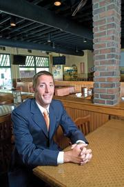 Colin Underhill, of Underhill Associates, is shown at the Tony Boombozz location in Westport Village.
