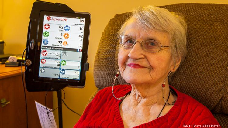 A resident of the Brookwood Retirement Community in Blue Ash volunteered to help test the telemedicine system that Christ Hospital hopes could improve care and reduce hospital readmissions for patients with heart failure.