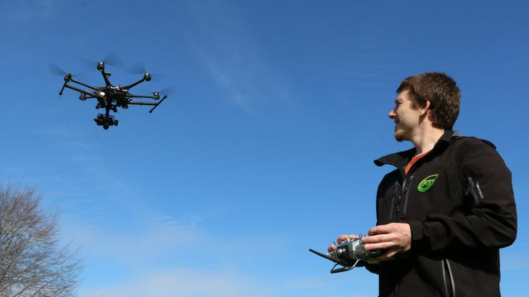 Stephen Burtt co-founded Aerial Technology International, a maker of custom drone systems.