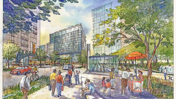 This is a 2010 rendering of the State Center Project.