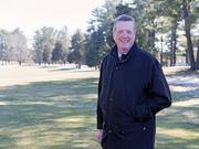 Jon Ladd, executive director of Baltimore's Classic Five, stands on the Pine Ridge Golf Course on a day when snow kept golfers off the fairways. He says the tough winter has left many golf courses trying to figure out how to make up lost revenue.