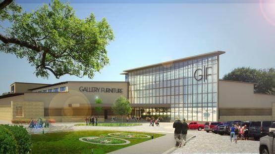 Gallery Furniture Breaks Ground On Third Store In Richmond Texas