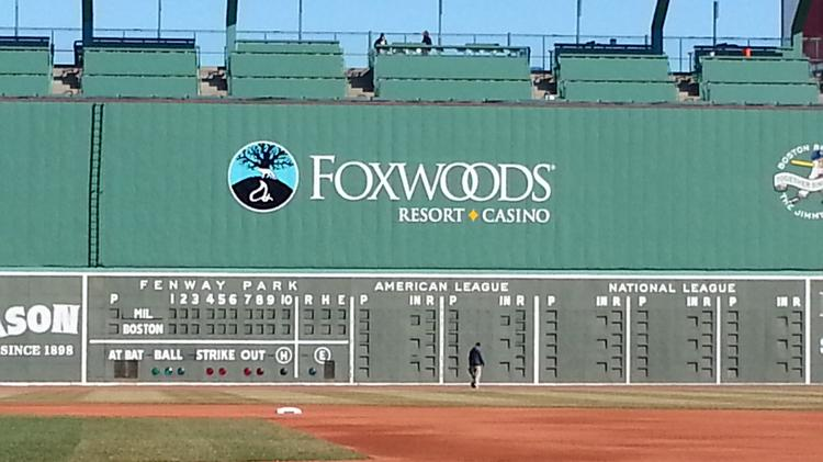 Foxwoods Resort Casino has replaced Covidien on the Green Monster.