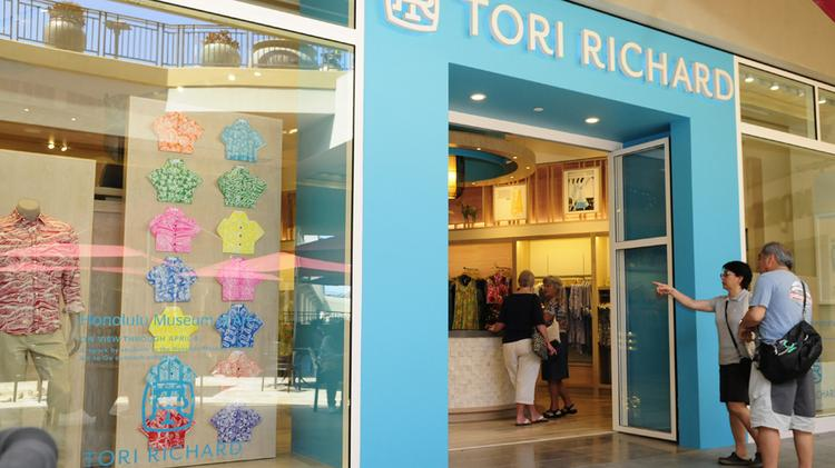 File photo of a new Tori Richard store. Consumer spending is putting more sales tax revenue into state and local accounts.
