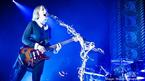 The Joy Formidable performs during the 2013 Middle of the Map Fest.