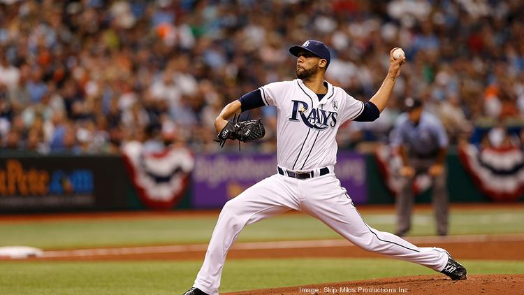 David Price pitching for the Tampa Bay Rays