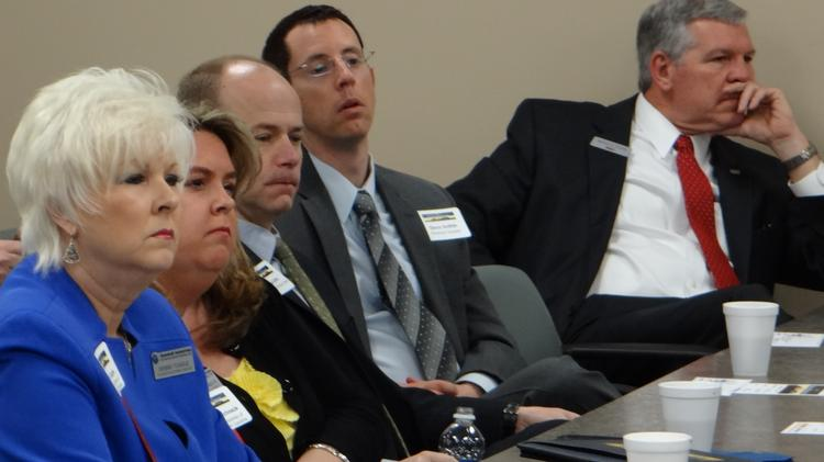 About 85 people gathered to hear and participate in the State of Randolph panel discussion.