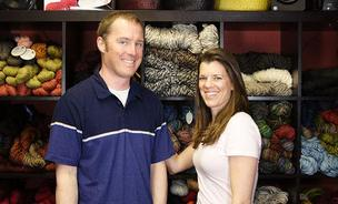 Jimmy Beans Wool cofounders Doug and Laura Zander.