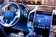 The dash features the Sync system, which can now include downloadable apps.