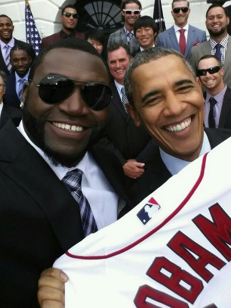 The selfie that may have ended all White House selfies: David Ortiz with President Barack Obama.