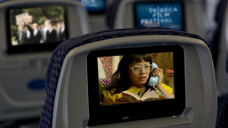 United Airlines will feature Tribeca Film Festival content on its in-flight entertainment system.