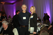 Entrepreneur of the Year Kristin Luck of Decipher stands with her father, John Koenig, at the Women of Influence Awards.
