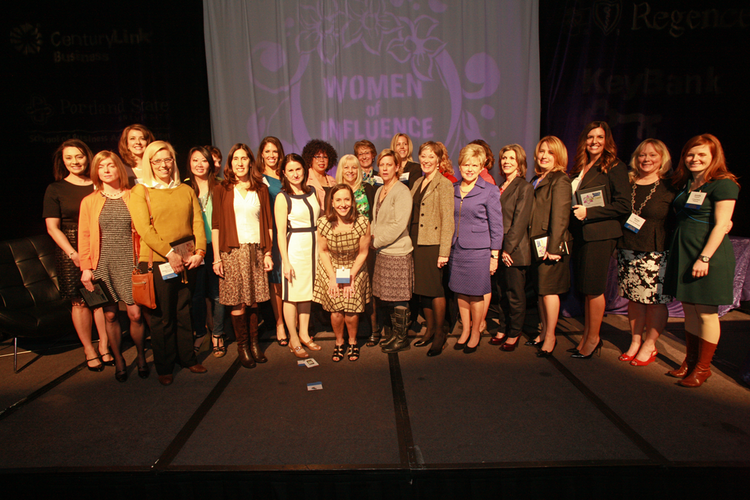 The 25 Orchid Award winners share the stage at the 2013 Women of Influence Awards. Click through the gallery to see more photos from the event.
