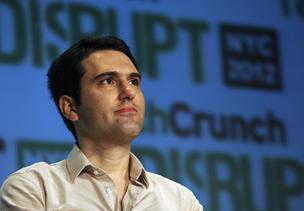 Gabe Rivera, founder and editor of Techmeme, listens during a panel discussion at the TechCrunch Disrupt NYC 2012 conference in New York, U.S., on Tuesday, May 22, 2012.