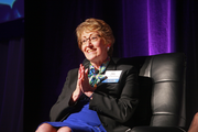 Kaiser Permanente's Sue Hennessy shared challenges women face in the workplace while conversing with the Women of Influence panel. Hennessy was named Large Company Executive of the Year.