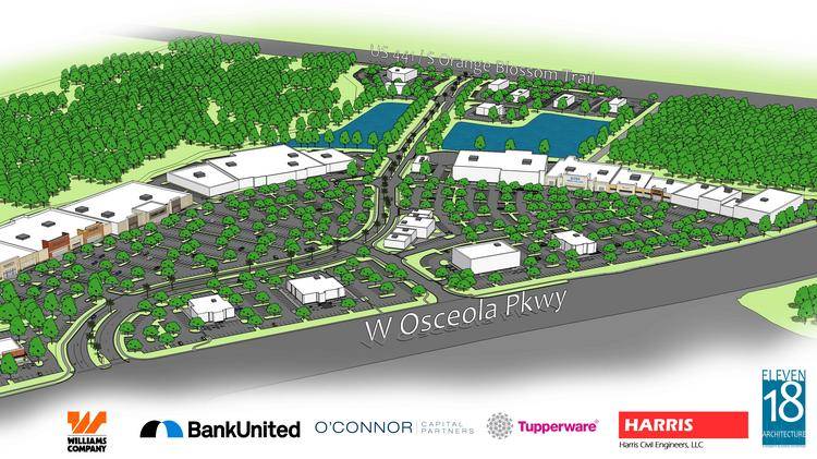 Orlando-based Tupperware Brands Corp. and New York-based O'Connor Capital Partners will break ground on The Crosslands shopping center, a 427,000-square-foot retail center bordering Orange and Osceola counties.