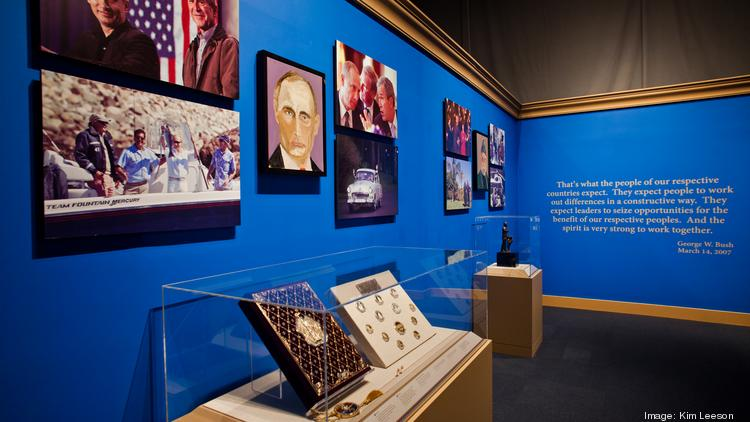 Former President George W. Bush's gallery includes paintings of world leaders as well as photographs and artifacts from his presidency.
