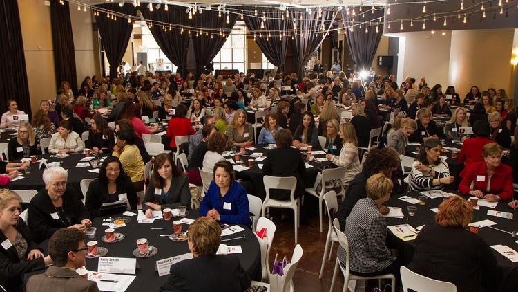 Almost 300 businesswomen participated in the Wichita Business Journal's Mentoring Monday event at Abode Venue.