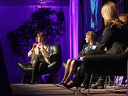 Business Journal Web editor Suzanne Stevens moderated the panel at the Women of Influence Awards.