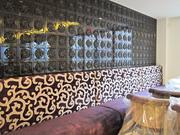 One wall of the Grill Room is inspired by a Chinese screen.
