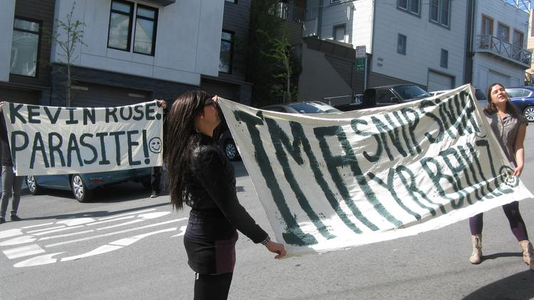 Entrepreneur and venture capitalist Kevin Rose is no stranger to protests. Several people gathered outside his California home earlier this year to voice their displeasure about gentrification.