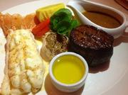 Chef Martin Venegas' surf 'n' turf at Great Oak Steakhouse