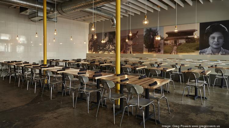 The dining room at Beau Thai in Mount Pleasant, which will serve as the model for the restaurant's new digs in Shaw.