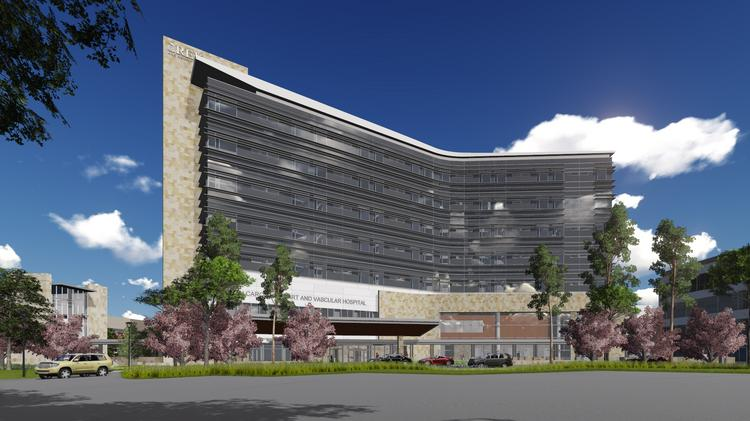 Rendering of the new heart tower at Rex Healthcare