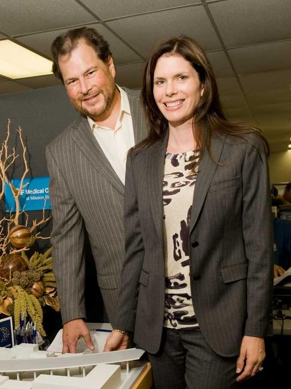 UCSF Director Lynne Benioff and her husband, Salesforce.com CEO and Chairman Marc Benioff.