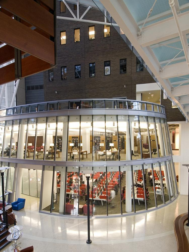 The Harrison Health Sciences Library at the University of Cincinnati is one of the 25 most impressive in the world, according to a website that reviews and ranks universities that offer master's degrees.